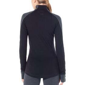 Icebreaker 260 Zone LS Half Zip Shirt Women jet heather/black